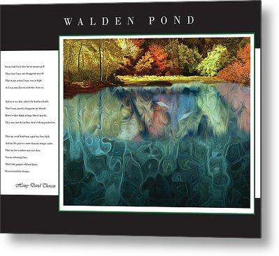 Walden Pond Metal Print by David Glotfelty