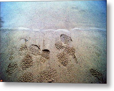 Walk In The Sand Metal Print by Tristan Bosworth