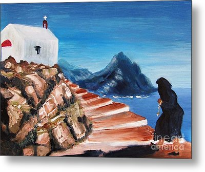 Walk Of Faith Metal Print by Therese Alcorn