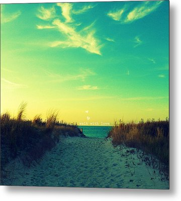 Metal Print featuring the photograph Walk With Love by Robin Dickinson