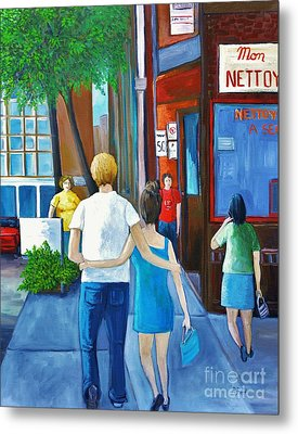Walking On A Sunny Day Metal Print by Reb Frost