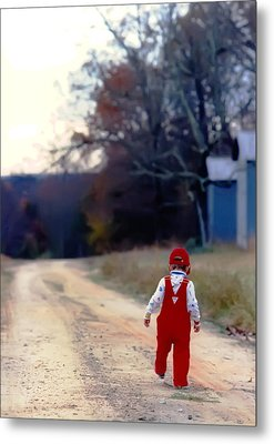 Walking On Pawpaw's Road Metal Print