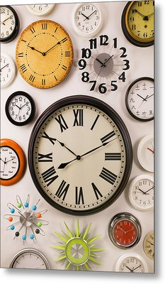 Wall Clocks Metal Print by Garry Gay