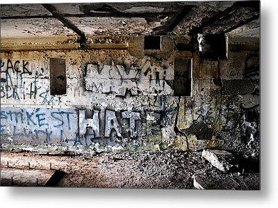 Wall Of Hate Metal Print