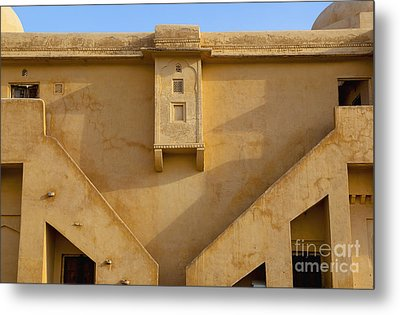 Wall Of The Amber Fort Metal Print by Inti St. Clair