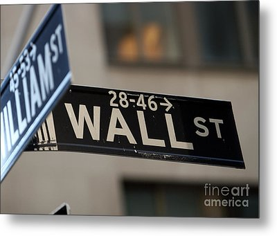 Metal Print featuring the photograph Wall Street by Leslie Leda