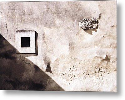 Wall With Square Hole Metal Print by Agnieszka Kubica