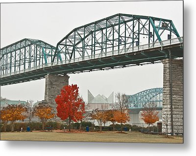 Walnut Street Bridge Metal Print by Tom and Pat Cory
