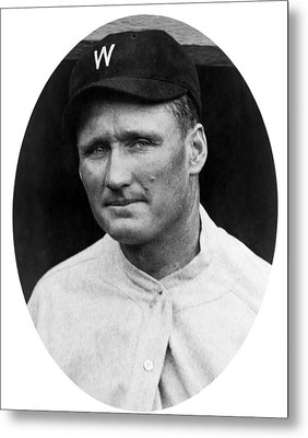 Metal Print featuring the photograph Walter Johnson - Washington Senators Baseball Player by International  Images
