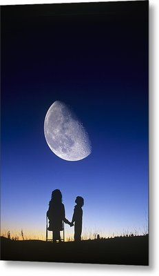 Waning Gibbous Moon Metal Print by David Nunuk