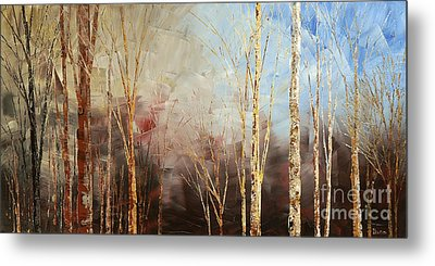 Metal Print featuring the painting War And Peace by Tatiana Iliina
