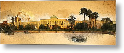 War In Iraq Sadaam's Palace Metal Print by Jeff Steed