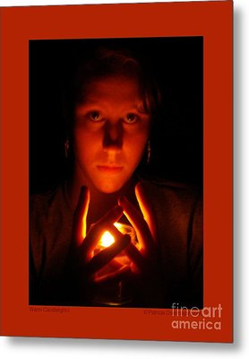 Metal Print featuring the photograph Warm Candlelight by Patricia Overmoyer