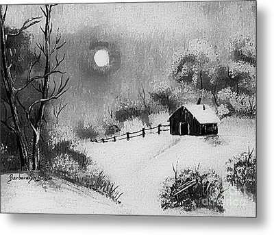 Warm Day  B And W Metal Print by Barbara Griffin