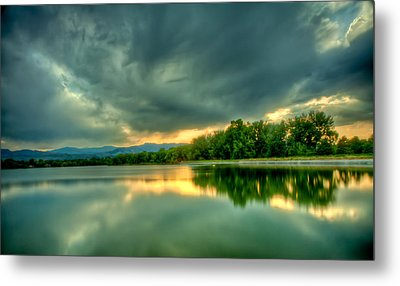Warren Lake At Sunset Metal Print by Anthony Doudt