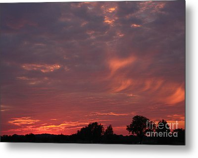 Warwickshire Sunset Metal Print by Linsey Williams
