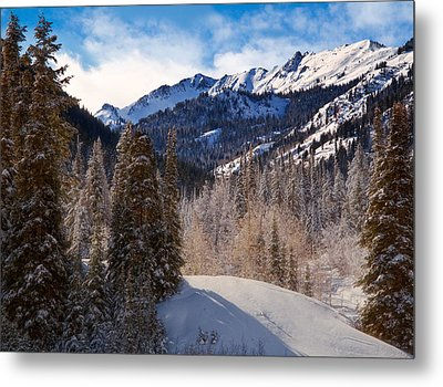 Wasatch Mountains In Winter Metal Print by Utah Images