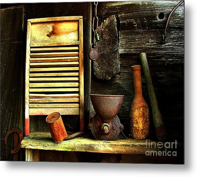 Washboard Still Life Metal Print