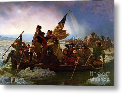 Washington Crossing The Delaware Metal Print by Pg Reproductions
