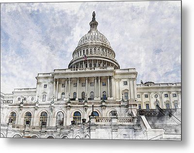 Washington Dc Capitol Hill Metal Print by Brandon Bourdages