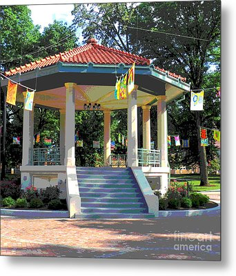 Washington Park Bandstand Metal Print by Jennifer Kelly