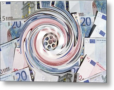 Wasting Money, Conceptual Image Metal Print by Victor De Schwanberg