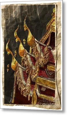 Wat Chai Mong Khon. Metal Print by Panupong Roopyai