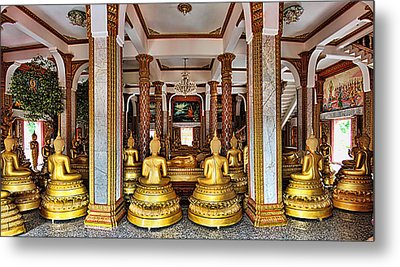 Wat Chalong Metal Print by Metro DC Photography