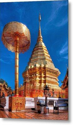 Wat Phrathat Doi Suthep Metal Print by Adrian Evans