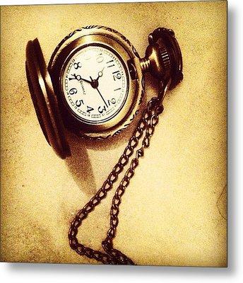 #watches #gold #bronze #steampunk Metal Print