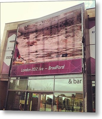 Watching #london2012 In #bradford - Na Metal Print