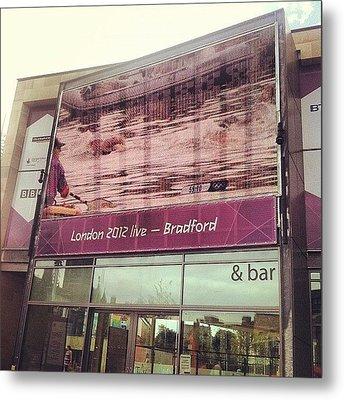 Watching #london2012 In #bradford - Na Metal Print by Maciej 😂 Liziniewicz