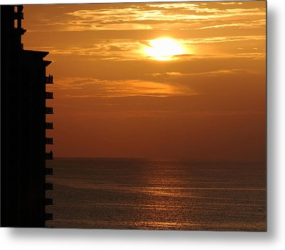 Metal Print featuring the photograph Watching The Sunset by Coby Cooper