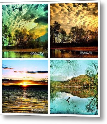 Water And Clouds Metal Print by Luisa Azzolini