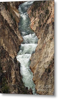 Water And Rock Metal Print by Living Color Photography Lorraine Lynch