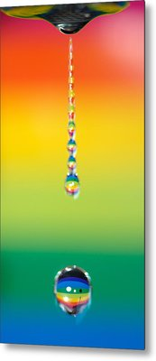 Water Dripping Metal Print by Kelly Doong