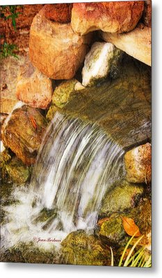 Metal Print featuring the photograph Water Fall by Joan Bertucci
