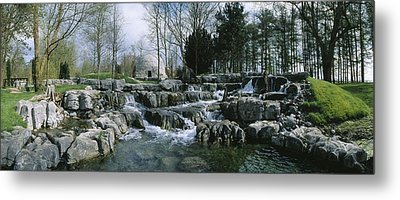 Water Flowing In A Garden, St. Fiachras Metal Print by The Irish Image Collection