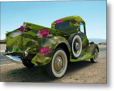 Water Lily Truck Metal Print by Carolyn Dalessandro