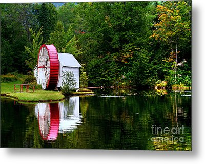 Water Mill Metal Print by Adrian LaRoque