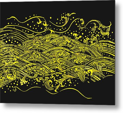 Water Pattern Metal Print by Setsiri Silapasuwanchai