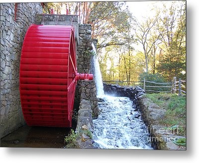 Water Powered Grist Mill Wheel Metal Print by John Small