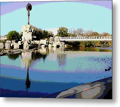 Water Reflection Metal Print by David Alvarez