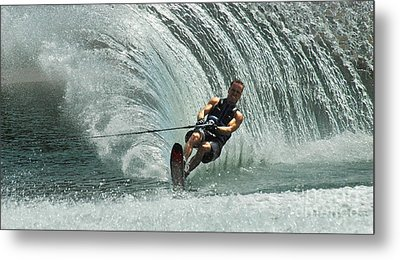 Water Skiing Magic Of Water 10 Metal Print by Bob Christopher