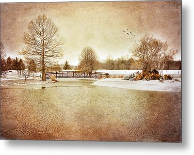 Metal Print featuring the photograph Water Under The Bridge by Mary Timman