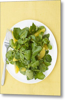 Watercress Orange Salad Metal Print
