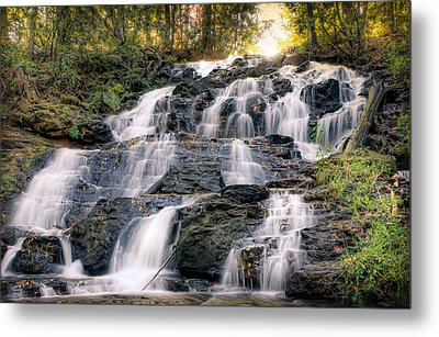 Waterfall Metal Print by Anna Rumiantseva