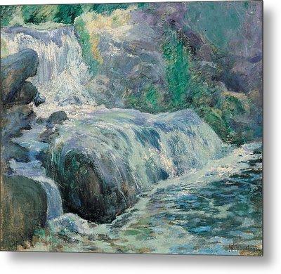 Waterfall Metal Print by John Henry Twachman