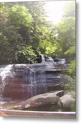 Metal Print featuring the photograph Waterfall by Kelly Hazel