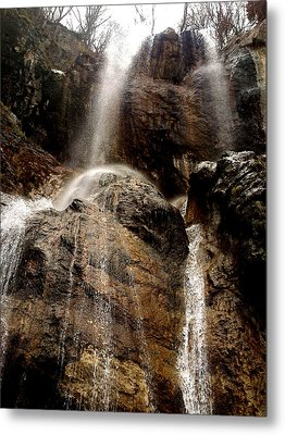 Metal Print featuring the photograph Waterfall by Lucy D
